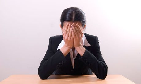 Business woman crying 008 - Tears in the office