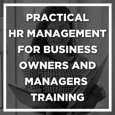 Practical HR Management for Business Owners and Managers Training Banner 400x400 - HR Manuals and Workshops
