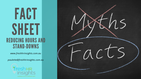 FACT SHEET – Reducing Hours and Stand-Downs