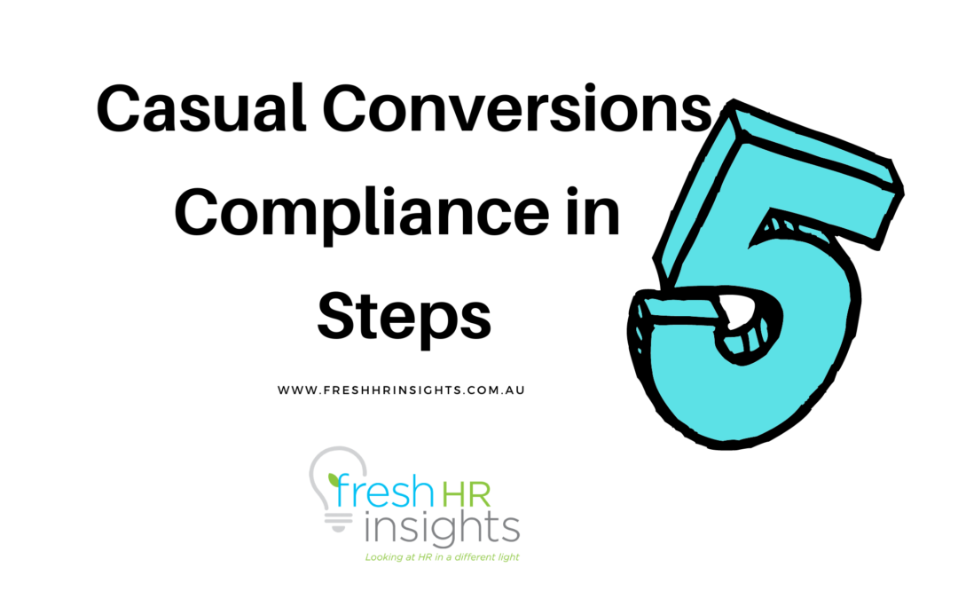 Casual Conversion Compliance in 5 easy steps