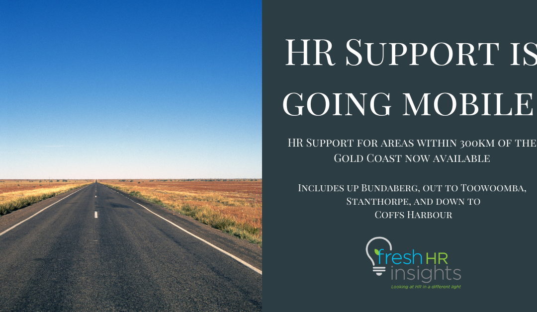 HR Support – Bundaberg, Toowoomba, Stanthorpe, Coffs Harbour and places inbetween