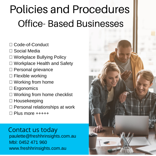 Office policies and procedures v4 - Office Based - HR Policies and Procedures